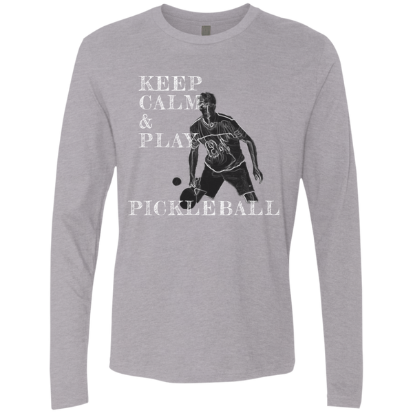 Keep Calm Play Pickleball NL3601 Next Level Men's Premium LS