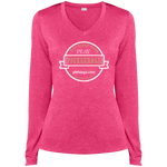 Eat Sleep Dink Pickleball Eat Sleep Dink LST360LS Sport-Tek Ladies' LS Heather Dri-Fit V-Neck T-Shirt