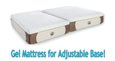 "DM9000s Adjustable Base SET (With 12"" GEL Memory Foam Mattress)"
