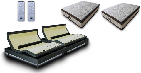 "DM9000S Sleep Systems bed SET (w/15.5""AtlantisBreeze Gel Mattress)"