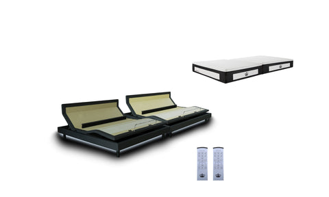 "DM9000s Adjustable Bed Base with 14"" LaComfort Gel Memory Foam Mattress"