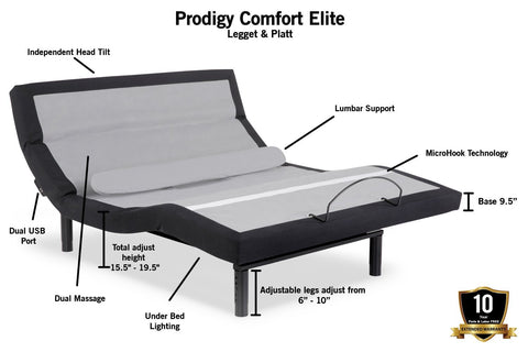 Prodigy Comfort Elite Adjustable Base by Leggett & Platt - DynastyMattress
