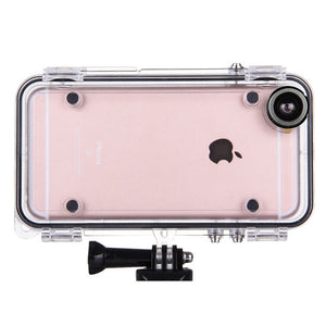 Extreme Sports Waterproof Case with 170 Degrees Wide Angle Lens for iPhone 6 6s 5s SE 6 Plus for GoPro Accessories GoPro Adapter