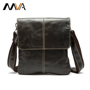 MVA Genuine Leather Men Bag Fashion Leather Crossbody Bag Shoulder Men Messenger Bags Small Casual Designer Handbags Man Bags