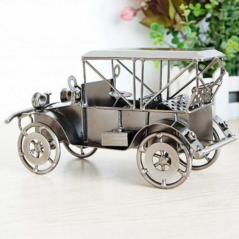 Handmade Crafts Metal Crafts Retro Classic Car Model Statue Retro ...