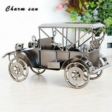 Handmade Crafts Metal Crafts Retro Classic Car Model Statue Retro Cars Model Children Toys Gifts Office Home Decorations