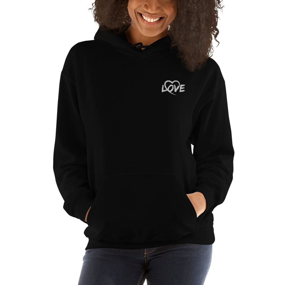 Embroidered Love Unisex Hoodie