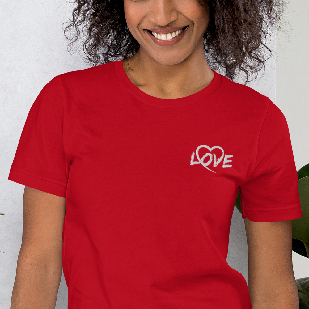 Embroidered Love Unixex Tee