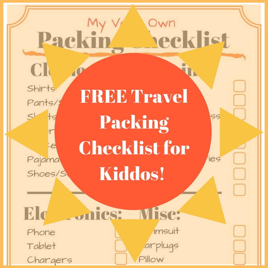 Free Summer Travel Packing Checklist for Kiddos!