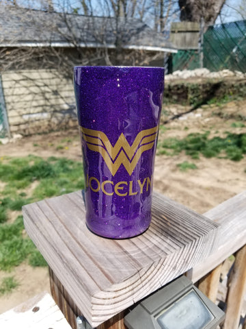 Custom Wonder Woman Stainless Steel Tumbler