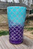 Mermaid Scales Glitter Stainless Steel Tumbler