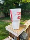 Baseball Lover Custom Stainless Steel Tumbler