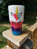 Unicorn Glitter Stainless Steel Tumbler