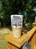 Throw Kindness Like Confetti Glitter Stainless Steel Tumbler