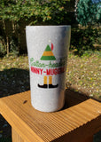 Cotton Headed Ninny Muggins Elf Glitter Stainless Steel Tumbler