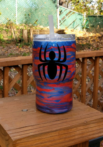Glow in the Dark Spiderman Custom Stainless Steel Tumbler