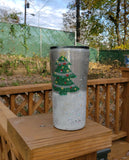 Ready to Ship Snow Globe Christmas Glitter Stainless Steel Tumbler