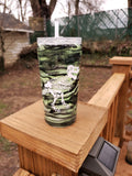 Glow in the Dark Dinosaur Stainless Steel Tumbler