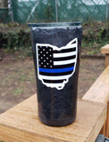 Thin Blue Line Stainless Steel Tumbler