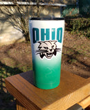 Football Team Logo Custom Glitter Stainless Steel Tumbler