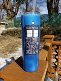 Dr. Who Inspired Tardis Stainless Steel Tumbler