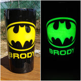 Glow in the Dark Batman Custom Stainless Steel Tumbler
