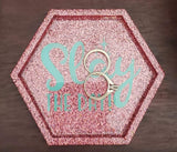 Customized Glitter Ring Dish or Coaster