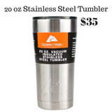 Plaid Sweater Weather Glitter Stainless Steel Tumbler