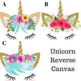 Flash Sale! Unicorn Reverse Canvas Wall Decor