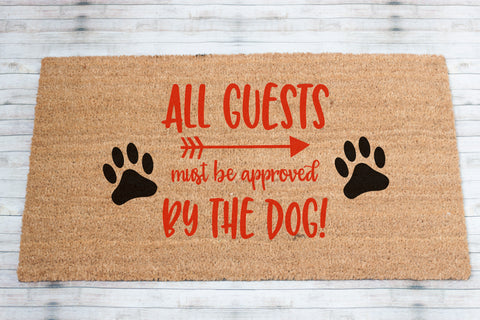 All Guests Coir Front Door Mat