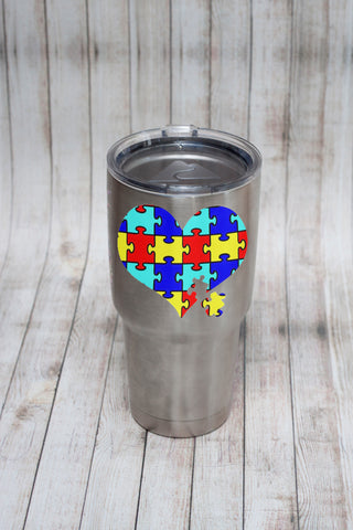 Autism Awareness Yeti Tumbler Decal