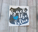 Back the Blue Police Decal