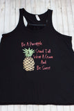 Be A Pineapple Flag Flowy Racerback Tank Top