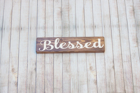 Blessed Rustic Wood Sign
