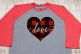 Buffalo Plaid Heart Valentine's Day Shirt