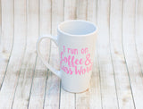 Run On Coffee & Cuss Words Mug