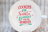 Cookies and Milk with Santa Plate and Milk Bottle Set