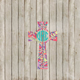 Chevron Cross Lilly P Inspired Yeti Decal