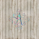 Lilly P Inspired Scroll Monogram Yeti Monogram Decal