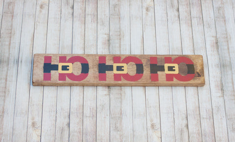 "Santa Ho Ho Ho Rustic 18"" Wood Sign"