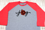Womens Buffalo Plaid Christmas T-Shirt