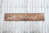 "Last Name Rustic 18"" Wood Sign"
