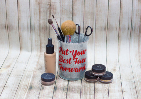 Put Your Best Face Forward Makeup Brush Holder