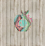 Teacher Chevron Monogram Yeti Decal