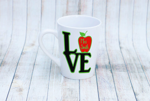 Love Teacher Apple Mug