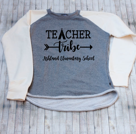 Personalized Teacher Tribe Sweatshirt