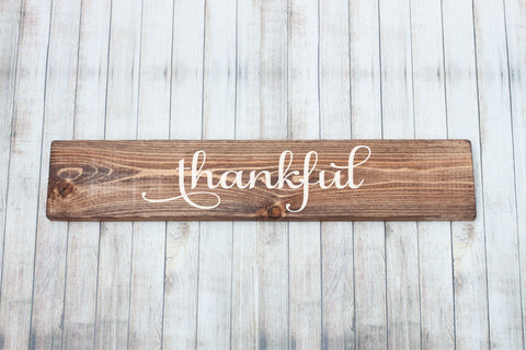 Thankful Rustic Wood Sign