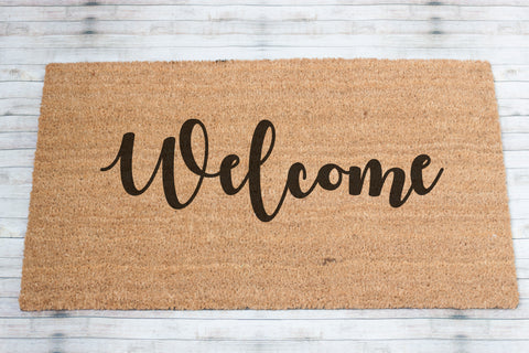 Custom Welcome Coir Front Door Mat