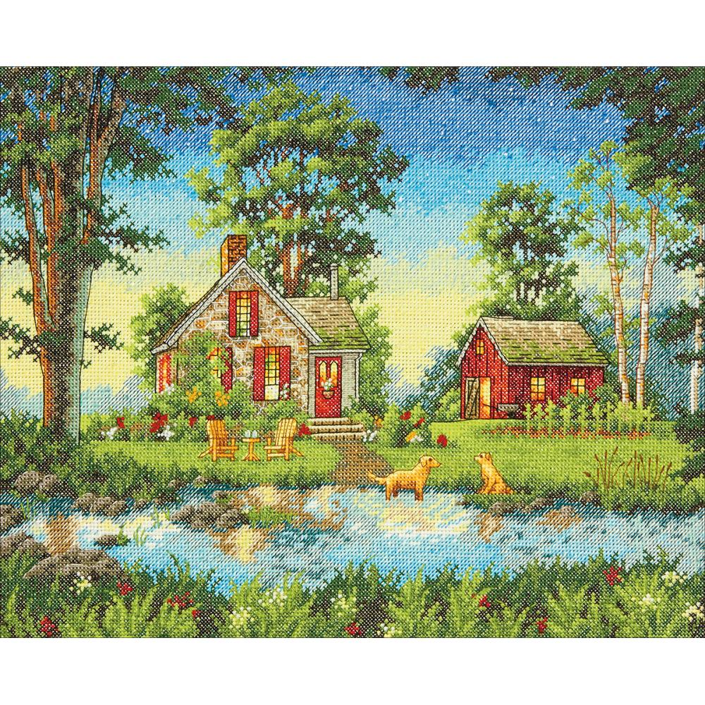 Summer Cottage (14 Count) - Hobby Sense