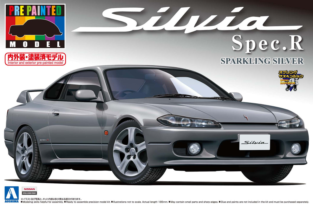 1/24 Nissan S15 Silvia Spec.R (Sparkling Silver) prepainted